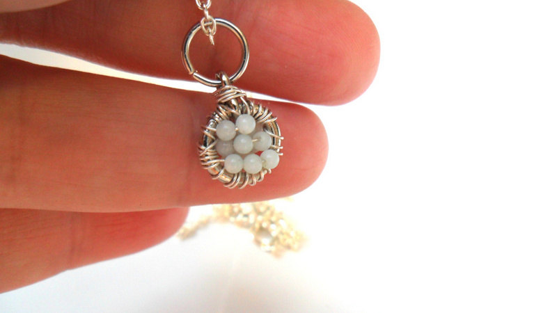 Sterling silver Pendant Charm Necklace Amazonite Spring trends Mother's Day gift for her under 25 dream catcher